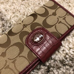 Coach Dark Red Wallet, NWT